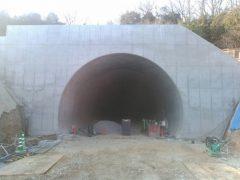高松自動車道 志度トンネル工事